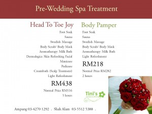 Pre-Wedding Spa Treatment