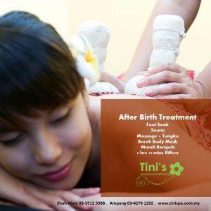spa menu after birth trmt