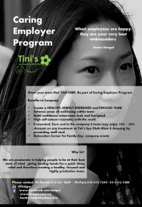 Caring Employer Program Benefits faedah pekerja Tinispa