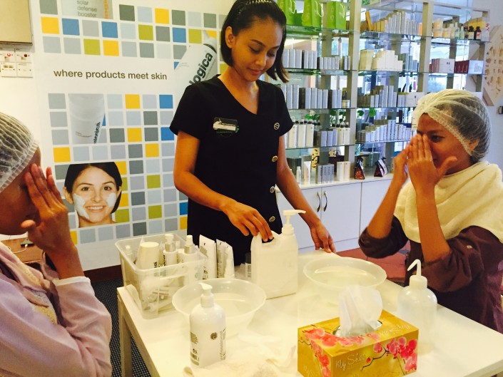 face mapping skin bar tinispa dermalogica facial