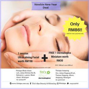 facial tinispa newbie new year 2018